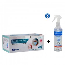 PACK 50 masques + Désinfectant air et surfaces