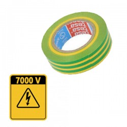Ruban toile isolant Vert et Jaune certifié 7000V TESA