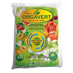 Engrais universel Organo-Minéral en granulés 5Kg ORGAVERT