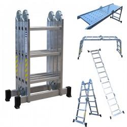Echelle Multifonctions 4x3 en aluminium avec plateforme