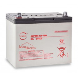 Batterie Plomb Gel cyclique 12V-70Ah NX