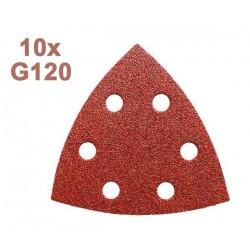 Pack de 10 Feuilles abrasive G120 pour Outil Multifonctions CMT