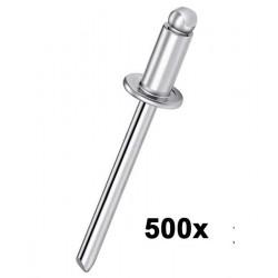 Boîte de 500 rivets Aluminium 4.8x18 PATTA