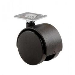 Roulette pivotantesà plaque pour meuble Ø50mm