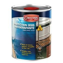 Protection Anti-dérapante transparente pour bois 1L OWATROL ATG