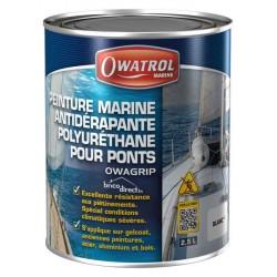 Peinture Anti-dérapante marine 2,5L Blanc OWATROL OWAGRIP