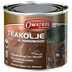 Huile de Teck incolore pour bois Exotiques 500ml OWATROL TEAKOLJE