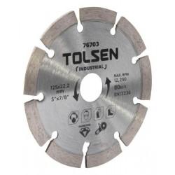 Disque diamant segmenté 125mm spécial béton TOLSEN