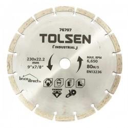 Disque diamant segmenté 230mm spécial béton TOLSEN