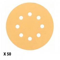 Pack de 50 Disques Abrasifs pour ponceuse excentrique 150mm P120 BOSCH