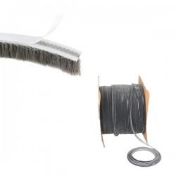 Rouleau 30m Joint brosse 7mm gris pour fenêtre/portes