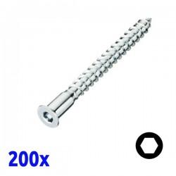 Pack de 200 vis d'assemblage 7x70 MICART