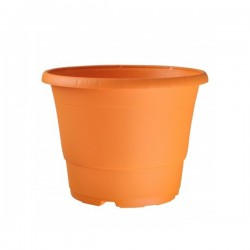 Pot en plastique D17cm Orange