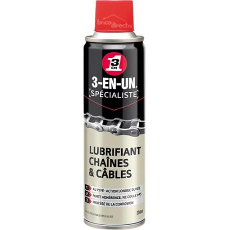 Lubrifiant pour chaînes et câbles 3EN1
