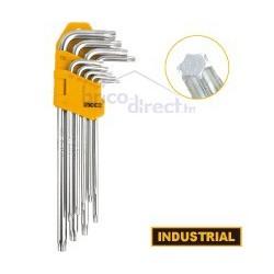 Jeu de 9 clés TORX T10 à T50 INGCO