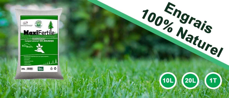Engrais Compost MAXIFERTILE disponible en 10 Litres, 20 Litres ou 1 Tonne