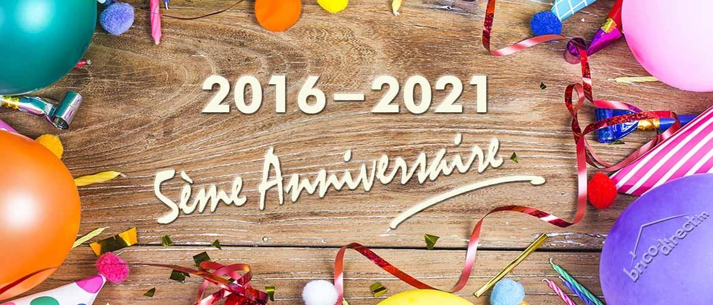 2016-2021 Brico-direct.tn fête son 5ème anniversaire